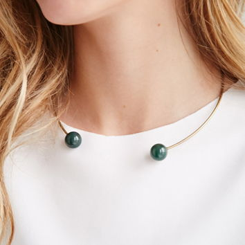 Faux Stone Collar Necklace