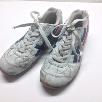Vintage Men's Ben Sherman White Athletic Shoe, Retro Trendy Hipster 1980's sneakers