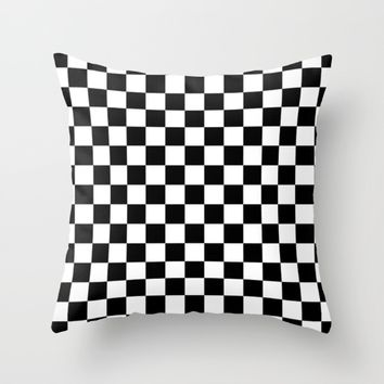 #4 Chessboard, squares Throw Pillow by Minimalist Forms