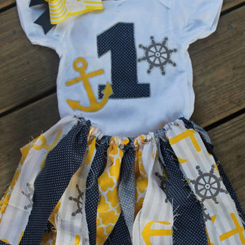 1st birthday outfit girl, first birthday outfit, anchor birthday outfit, nautical birthday outfit, 1st birthday outfit, 1st birthday tutu