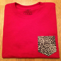 Small red with cheetah frocket