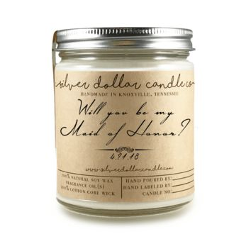 Maid Of Honor Proposal - 8oz Soy Candle [V4]