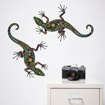 Patterns Gecko Crawling Removable PVC Wall Stickers - Plane Wall Stickers Transportation / Landscape Study Room / Office / Dining Room / Kitchen
