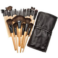 32pcs Nylon Bristle Wooden Handle Professional Cosmetic Brush Set