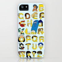 Simpsons Alphabet iPhone Case by Mike Boon | Society6