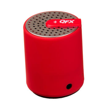 QFX Portable Bluetooth Speaker With AUX-IN (Red)
