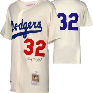 CREYONY Sandy Koufax Signed Autographed Los Angeles Dodgers Baseball Jersey (MLB Authenticated)