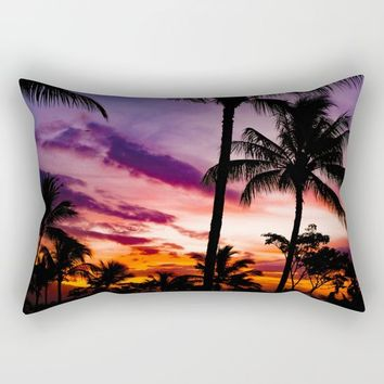 Fire In The Sky Rectangular Pillow by Gallery One