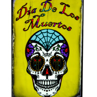 "Sugar Skull Day of the Dead Magnet ""Dia De Los Muertos"" Decoration"