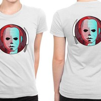 ONETOW Horror Michael Myers B 2 Sided Womens T Shirt