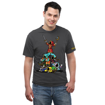 Magicka Wizard Pile On T-Shirt - Charcoal,