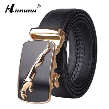 2016 New Designer Automatic Buckle Cowhide Leather men belt Fashion Luxury belts for men designer