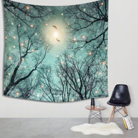 150X130cm Wall Hanging Tree Tapestry Throw Blanket Yoga Mat Bedspread Picnic Cloth Home Textiles Home Bedroom Decoration