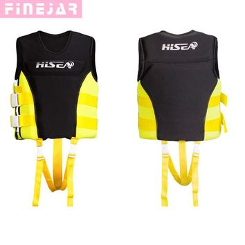 Hisea Outdoor Professional Kids Swimwear Foam Vest Water Sport Survival Dedicated