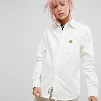 Carhartt WIP Premium Oversized Canvas Shirt at asos.com