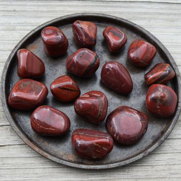 BRECCIATED JASPER Healing Stone for a Broken Heart, Grounding Worry Stone for Comfort