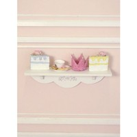Shabby White Rose Wooden Wall Shelf - Shop By Brand