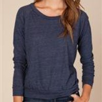 Women's Long Sleeve | Eco-Heather Slouchy Pullover | Alternative Apparel