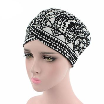Stretch Cotton African Design Headscarf Long Head Scarf Jewish Headcover Turban Shawl Warp Hair Bohemian Headwrap Chemo Turbante