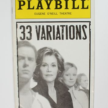 33 Variations Playbill