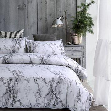 Marble Lines Bedding Set Single AU EU Double Full Queen King 6 Size Duvet Cover With Pillowcase Set