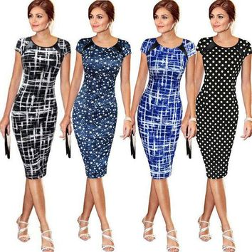 CUPUPI8 Sought-After New Women Bandage Bodycon Short Sleeve Party Midi Dress
