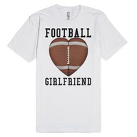 Football Girlfriend tee t shirt-Unisex White T-Shirt
