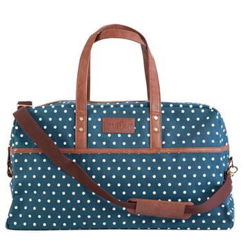 Dots Navy Duffel Bag