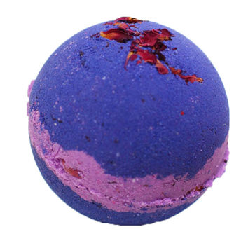 Midnight Howl Bath Bomb, Cruelty Free Bath Bomb with Rose Petals, Purple Bath Bomb