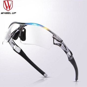 DCCK7N3 WHEEL UP Professional Polorized Discolored Lenses Myopia Frame Explosion-proof Sports Sunglasses Eyewear Cycling Glasses3 Colors
