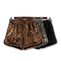 Cute Fashion Velvet Shorts