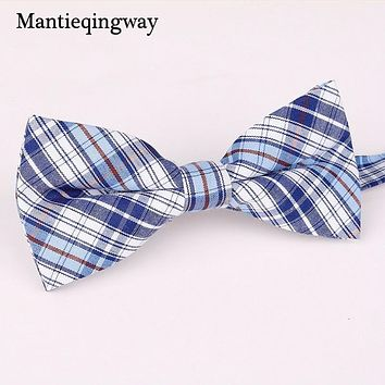Mantieqingway Child Bow Tie for Baby Unisex Striped Plaid Printed Bowties Children Cravat Polyester Narrow Baby Bow Tie Party