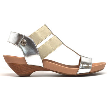 STRETCH LOW Sandal - Silver/Natural