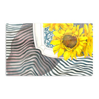 "S. Seema Z ""Finall Sunflower"" Yellow Flower Aluminum Magnet"