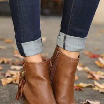 Westward Bound Bootie-Cognac