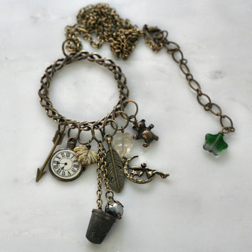 Peter Pan and Wendy and Lost Boys Necklace In Brass