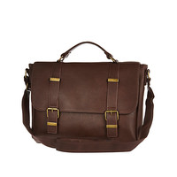 River Island MensBrown textured satchel bag