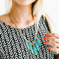 Dazed and Confused Necklace: Turquoise