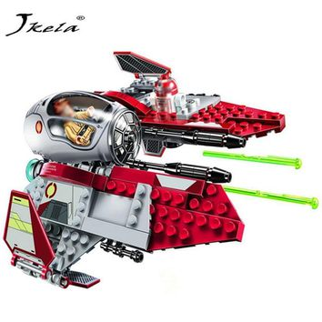Star Wars Force Episode 1 2 3 4 5 [Hot]  Obi-Wan's Jedi Interceptor Revenge of the Sith Block Set R4-P17 Droid Compatible with legoingly  AT_72_6