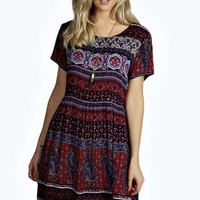 Lilly Paisley Oversized Smock Dress