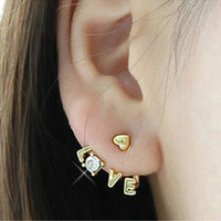 Letter Love Earrings
