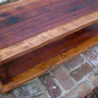 Wood - Coffee Table - Shabby Furniture - Cottage Chic, Handmade - Cottage - Wooden Stained, Painted - 20 Inch Wide