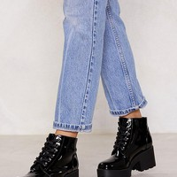 Patent On You Lace-Up Boot
