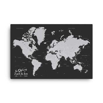 Push Pin World Map With Pins