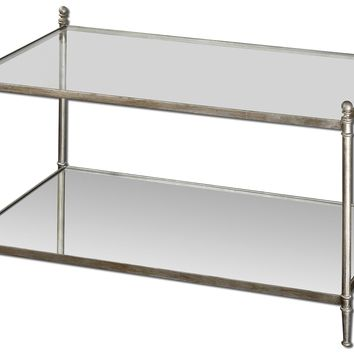 Gannon Mirrored Glass Coffee Table by Uttermost