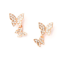 Katy Perry Crystal Butterfly Stud Earrings