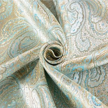 114x100cm Japanese style Metallic Jacquard Brocade Fabric, 3D jacquard yarn dyed fabric for clothing,bedding,bag,curtain