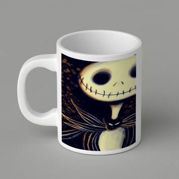 Gift Mugs | Jack Skellington Art Ceramic Coffee Mugs