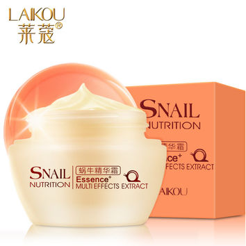 LAIKOU Cleansing Acne Treatment Brightening Anti-Wrinkle Anti-Aging Scar Repairing Snail Essence Facial Day Cream