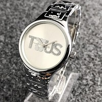 TOUS Popular Woman Casual Quartz Movement Watch Wristwatch Silvery